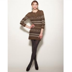 Charlotte Ronson Breton sweater dress sz XS